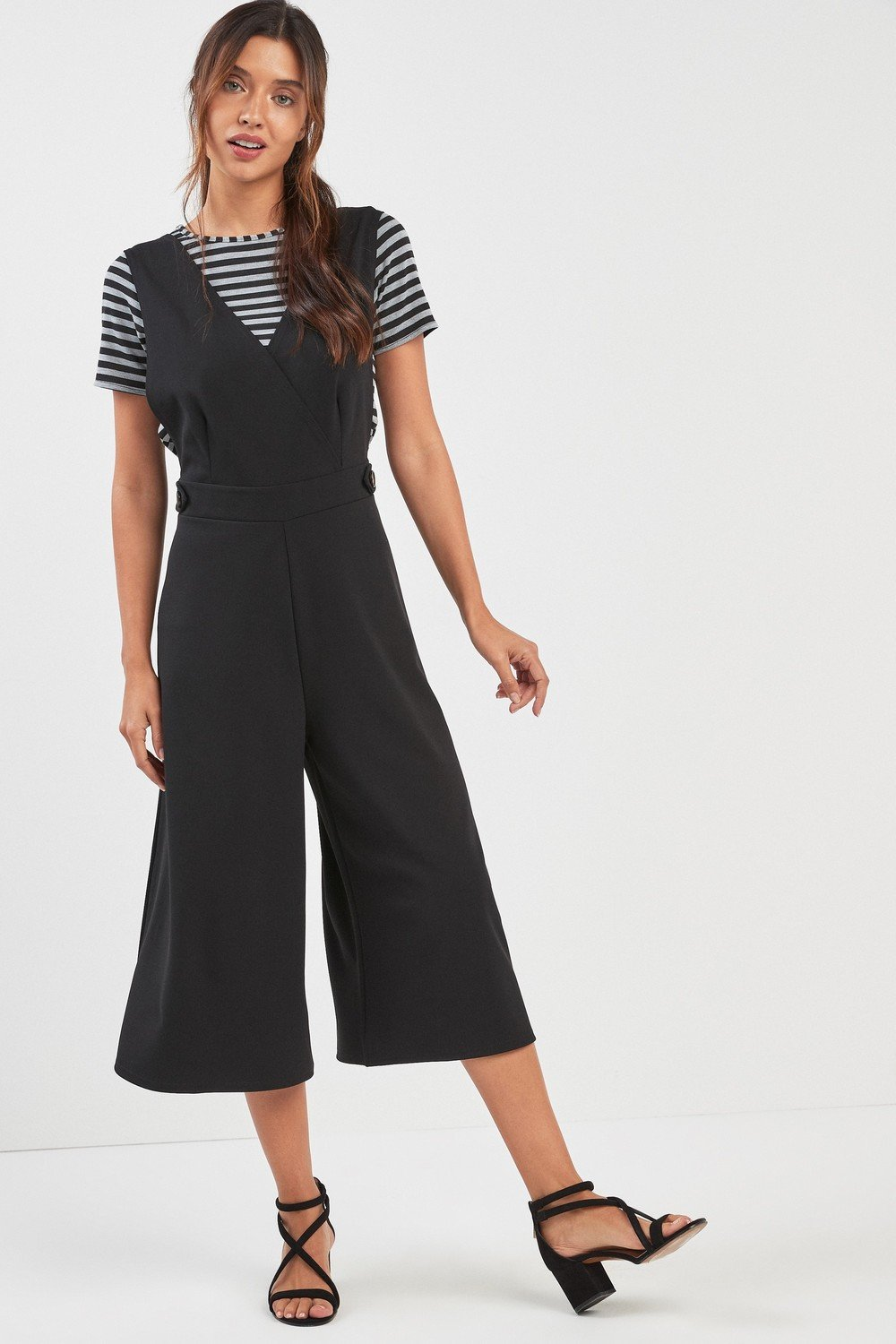 4dcdcfd5ddcbdd Next 2-In-1 Culotte Jumpsuit And Stripe T-Shirt Online