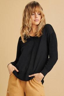 Emerge Merino V Neck Rib Sweater - 218419
