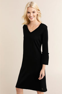 Emerge Merino Ruffle Sleeve Dress