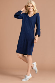 Emerge Merino Ruffle Sleeve Dress - 218421