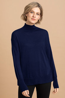 Emerge Merino High Neck Rib Sweater