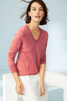 Emerge Merino V Neck Sweater - 218426
