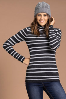 Emerge Merino Roll Neck Sweater - 218429