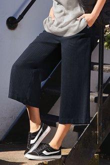 Next Stripe Wide Crop Trousers
