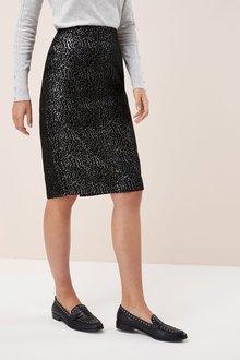 Next Jacquard Pencil Skirt