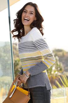 Euro Edit Striped Sweater