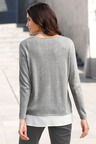 Euro Edit Faux Layer Pullover