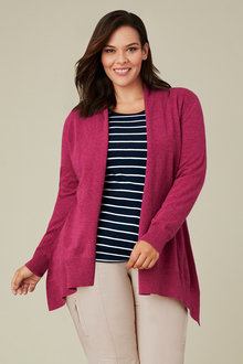 Plus Size - Sara Lambswool Split Back Cardi - 218524