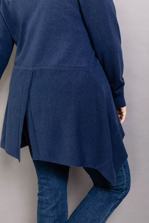 Plus Size - Sara Lambswool Split Back Cardi