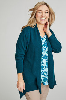 Sara Lambswool Split Back Cardi - 218524
