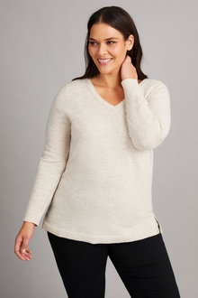 Sara Lambswool V Neck Sweater - 218528