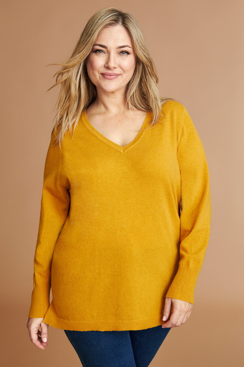 Sara Lambswool V Neck Sweater