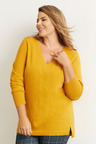 Plus Size - Sara Lambswool V Neck Sweater