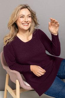 Sara Lambswool Round Neck Sweater - 218529