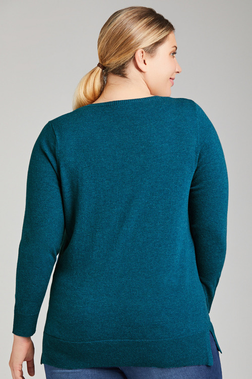 Plus Size - Sara Lambswool Round Neck Sweater