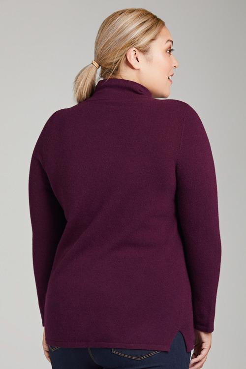 Plus Size - Sara Lambswool Zip Through
