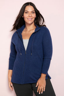 Plus Size - Sara Lambswool Zip Through - 218531