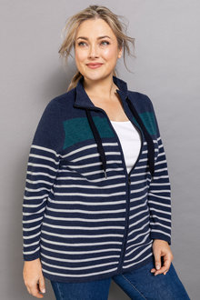 Plus Size - Sara Lambswool Zip Through