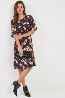 Next Poppy Floral Print Dress