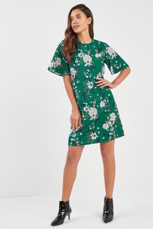 Next Floral Print Shift Dress - 218578
