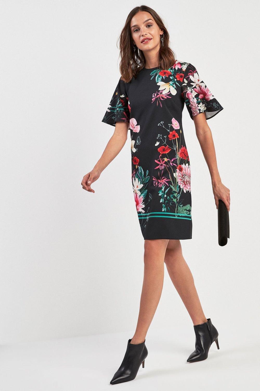 Next Floral Print Border Print Shift Dress Online  f4afe81bc