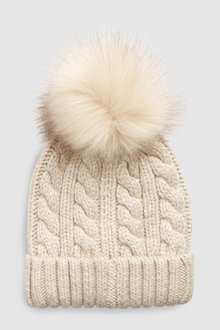 Next Cable Knit Pom Hat