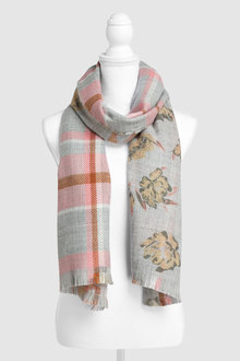 Next Check Floral Scarf