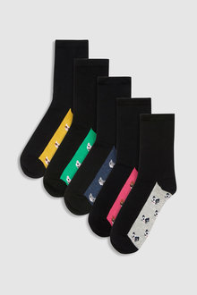 Next Cat Pattern Ankle Socks Five Pack