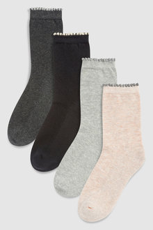Next Cushion Sole Ankle Socks Four Pack