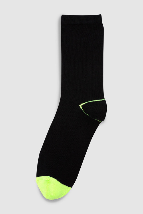 Next Neon Heel And Toe Ankle Socks Five Pack