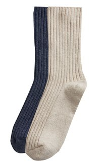 Next Cashmere Mix Socks In A Box Two Pack - 218650