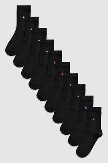 Next Motif Star Socks Ten Pack