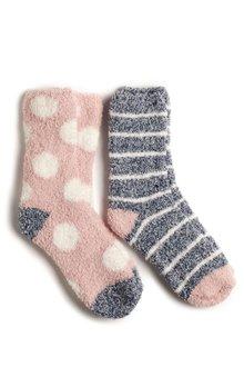 Next Spot/Stripe Bed Socks Two Pack