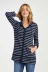 Capture Merino Button Up Longline Hooded Cardigan