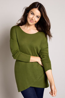 Capture Merino Asymmetric Hem Sweater - 218737