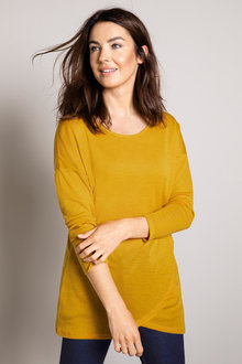Capture Merino Asymmetric Hem Sweater