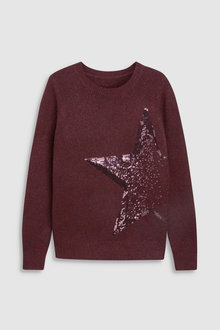 Next Sequin Star Sweater