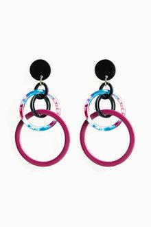 Next Resin Circle Drop Earrings