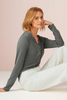 Capture Merino Henley Sweater - 218769