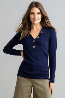 Capture Merino Henley Sweater