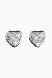Next Delicate Heart Stud Earrings