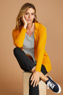 Capture Merino Zip Up Hooded Cardigan
