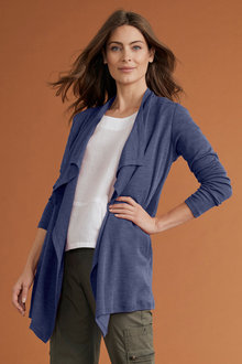 Capture Merino Waterfall Longline Cardigan - 218848
