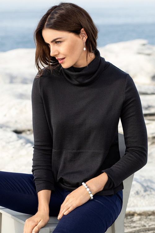 Capture Merino Cowl Neck Sweater