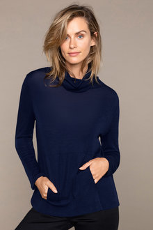 Capture Merino Cowl Neck Sweater - 218868