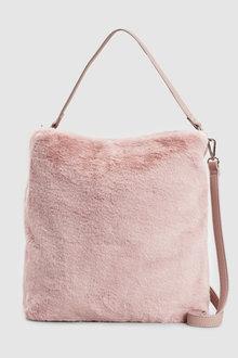 Next Faux Fur Hobo Bag