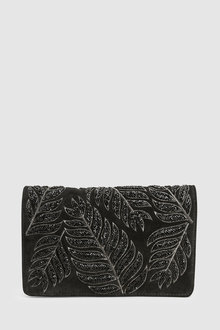 Next Leather Embellished Clutch