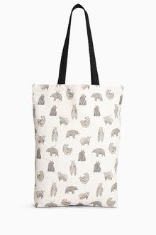 Next Bear Print Shopper Bag