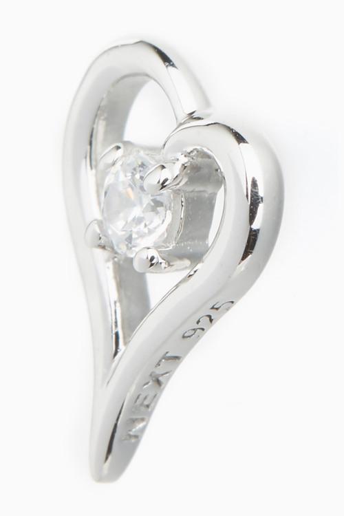 Next Heart Stone Stud Earrings