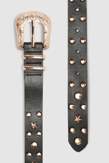 Next Studded Stars Skinny Belt